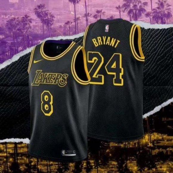 Shirts | Mens Lakers 24 Kobe Black Mamba Jersey 824 4 | Poshmark